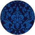 rug #972077 | round blue rug