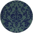 rug #972085 | round blue-green traditional rug