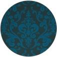 rug #972113 | round blue-green rug