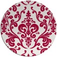 rug #972165 | round red traditional rug
