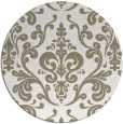 rug #972201 | round white traditional rug