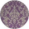 rug #972229 | round purple traditional rug