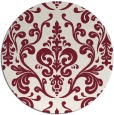 rug #972265 | round pink traditional rug