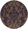 rug #972285 | round mid-brown traditional rug