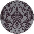 rug #972289 | round purple rug