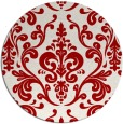 rug #972293 | round red traditional rug