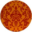 rug #972297 | round red traditional rug