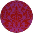 rug #972305 | round red traditional rug