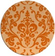rug #972313 | round red-orange traditional rug