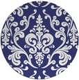 rug #972333 | round blue traditional rug