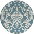 rug #972341 | round blue-green traditional rug