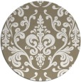 rug #972345   round white traditional rug