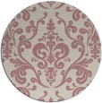 rug #972393 | round pink traditional rug
