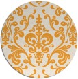 rug #972401 | round light-orange traditional rug