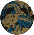 rug #97365 | round black natural rug