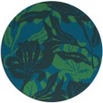 rug #97425 | round blue-green natural rug