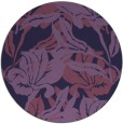 rug #97441 | round purple natural rug