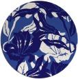 rug #97449   round blue-violet rug