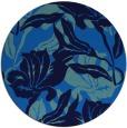 rug #97513 | round blue natural rug