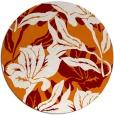 rug #97537   round orange natural rug