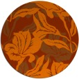 rug #97601 | round red-orange popular rug