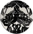 rug #97617 | round black natural rug