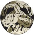 rug #97653 | round black natural rug