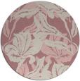 rug #97685 | round pink rug