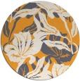 rug #97693 | round light-orange rug