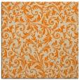 rug #979965 | square orange damask rug