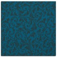 rug #980033 | square blue-green damask rug