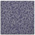 rug #980057 | square blue-violet damask rug