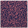rug #980061 | square blue-violet damask rug