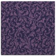 rug #980065 | square blue-violet damask rug