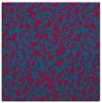 rug #980089   square blue-green damask rug