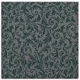 rug #980097 | square green damask rug