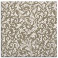 rug #980121 | square mid-brown damask rug