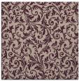 rug #980125 | square pink damask rug