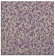 rug #980149 | square purple damask rug