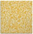 rug #980269 | square yellow damask rug