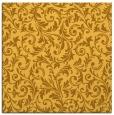 rug #980285 | square light-orange damask rug