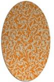 rug #980325 | oval beige damask rug