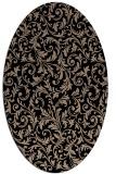 rug #980337 | oval black rug