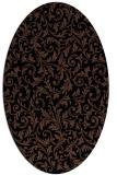 rug #980341 | oval black natural rug