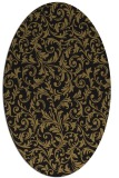 rug #980353 | oval mid-brown natural rug