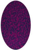 rug #980361 | oval pink natural rug