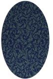rug #980365 | oval blue-green natural rug