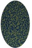 rug #980369   oval blue damask rug