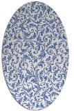 rug #980374 | oval damask rug