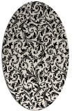 rug #980389 | oval blue-green rug